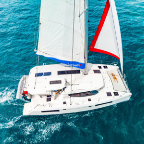 Sunsail fuel-efficient catamaran in Belize